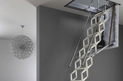 escaliers escamotables escalier escamontable motoris. Black Bedroom Furniture Sets. Home Design Ideas